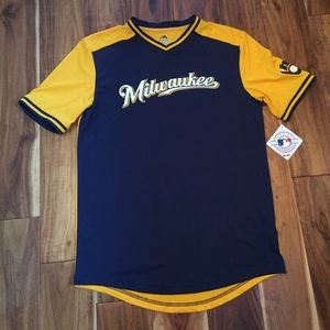 Men's Brewers Jersey Shirt (Medium)
